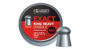 JSB King Heavy MKII 6.35 мм, 2.2 гр, 300 шт/уп.
